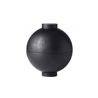 XL wooden sphere | black