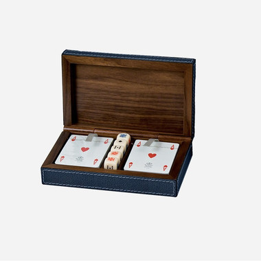 Royal dice and playing card holder
