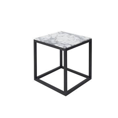 Cube table black / grey
