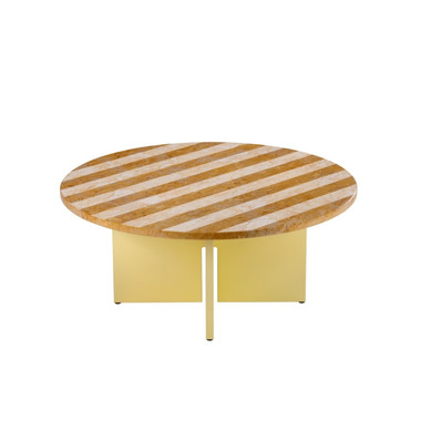 Sediment coffee table Giallo Reale